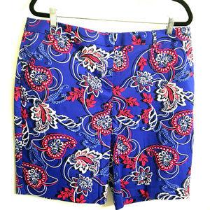 Dana Buchman Paisley Floral Bermuda Shorts -NWT